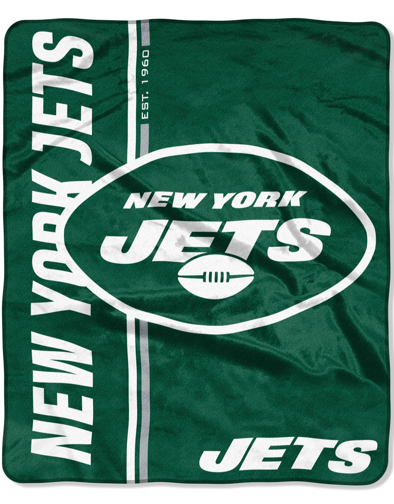 NORTHWEST New York Jets Restructure Royal Plush Raschel Throw