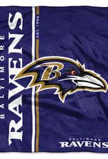 NORTHWEST Baltimore Ravens Restructure Royal Plush Raschel Throw