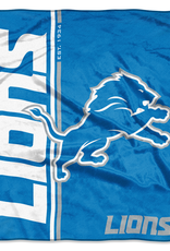 NORTHWEST Detriot Lions Restructure Royal Plush Raschel Throw