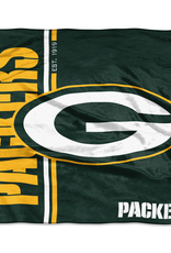 NORTHWEST Green Bay Packers Restructure Royal Plush Raschel Throw