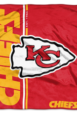 NORTHWEST Kansas City Chiefs Restructure Royal Plush Raschel Throw
