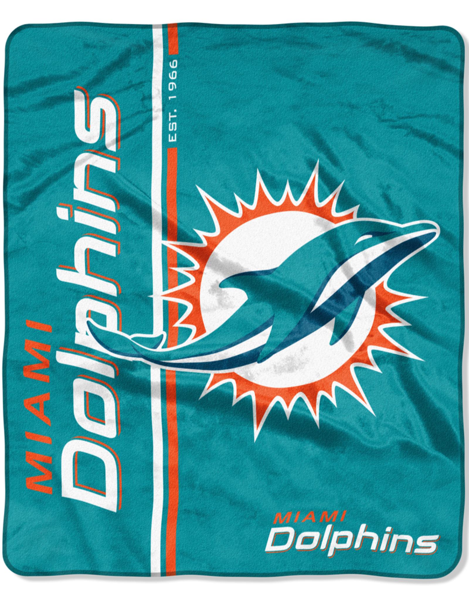NORTHWEST Miami Dolphins Restructure Royal Plush Raschel Throw