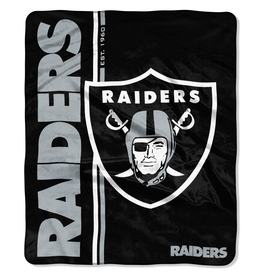 NORTHWEST Las Vegas Raiders Restructure Royal Plush Raschel Throw