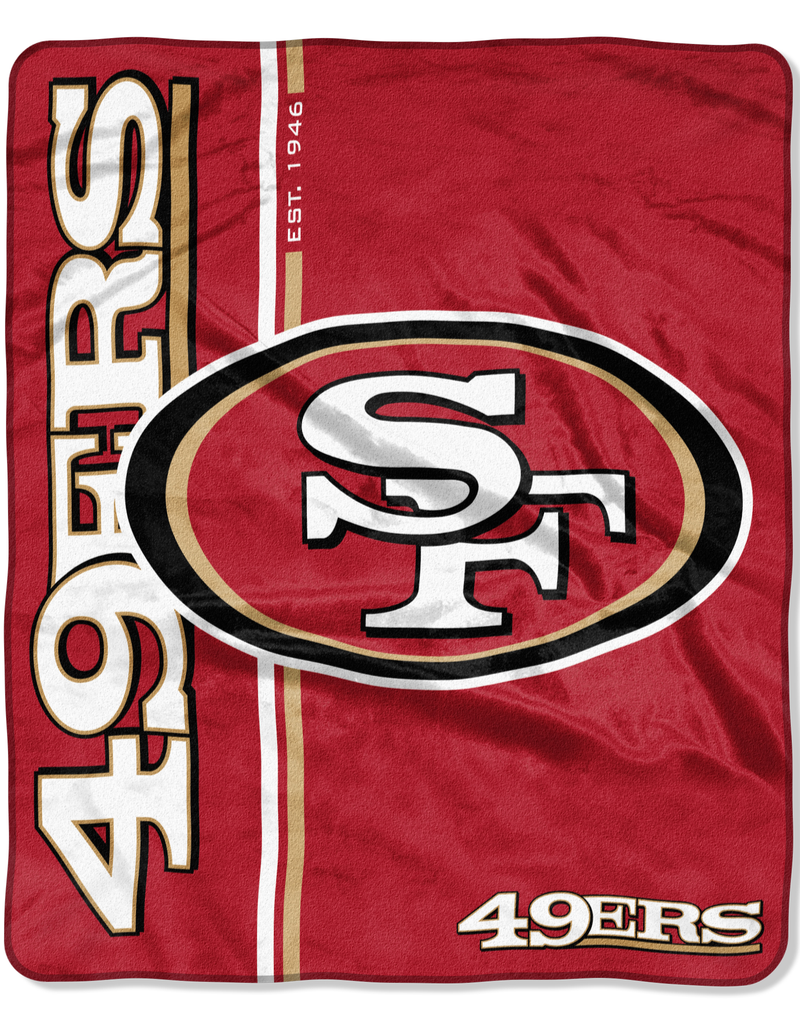 NORTHWEST San Francisco 49ers Restructure Royal Plush Raschel Throw
