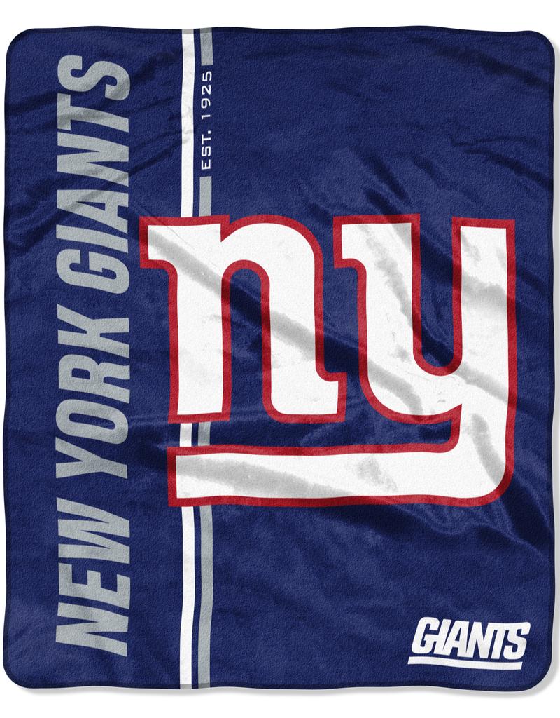 NORTHWEST New York Giants Restructure Royal Plush Raschel Throw