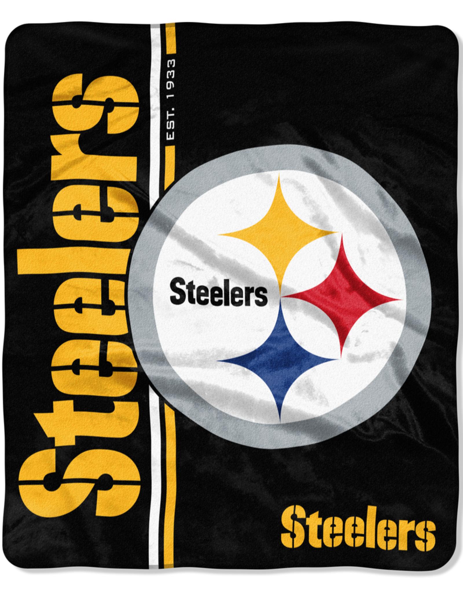 NORTHWEST Pittsburgh Steelers Restructure Royal Plush Raschel Throw