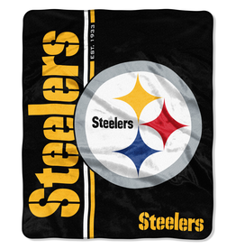 NORTHWEST Pittsburgh Steelers Restructure Royal Plush Raschel Throw