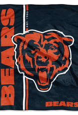 NORTHWEST Chicago Bears Restructure Royal Plush Raschel Throw