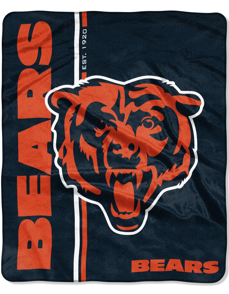NORTHWEST Chicago Bears Restructure Royal Plush Raschel Throw
