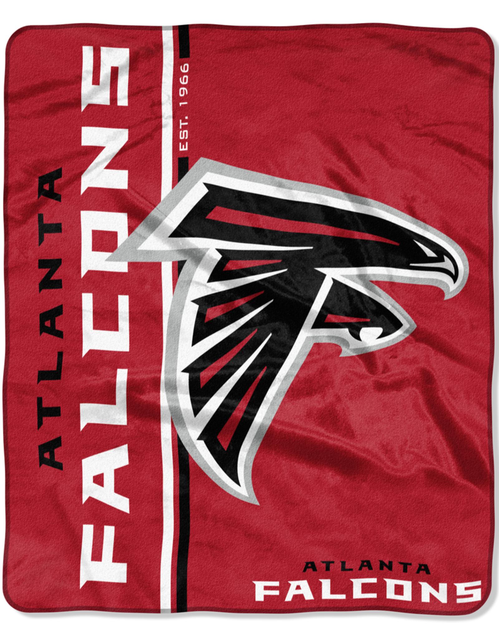 NORTHWEST Atlanta Falcons Restructure Royal Plush Raschel Throw