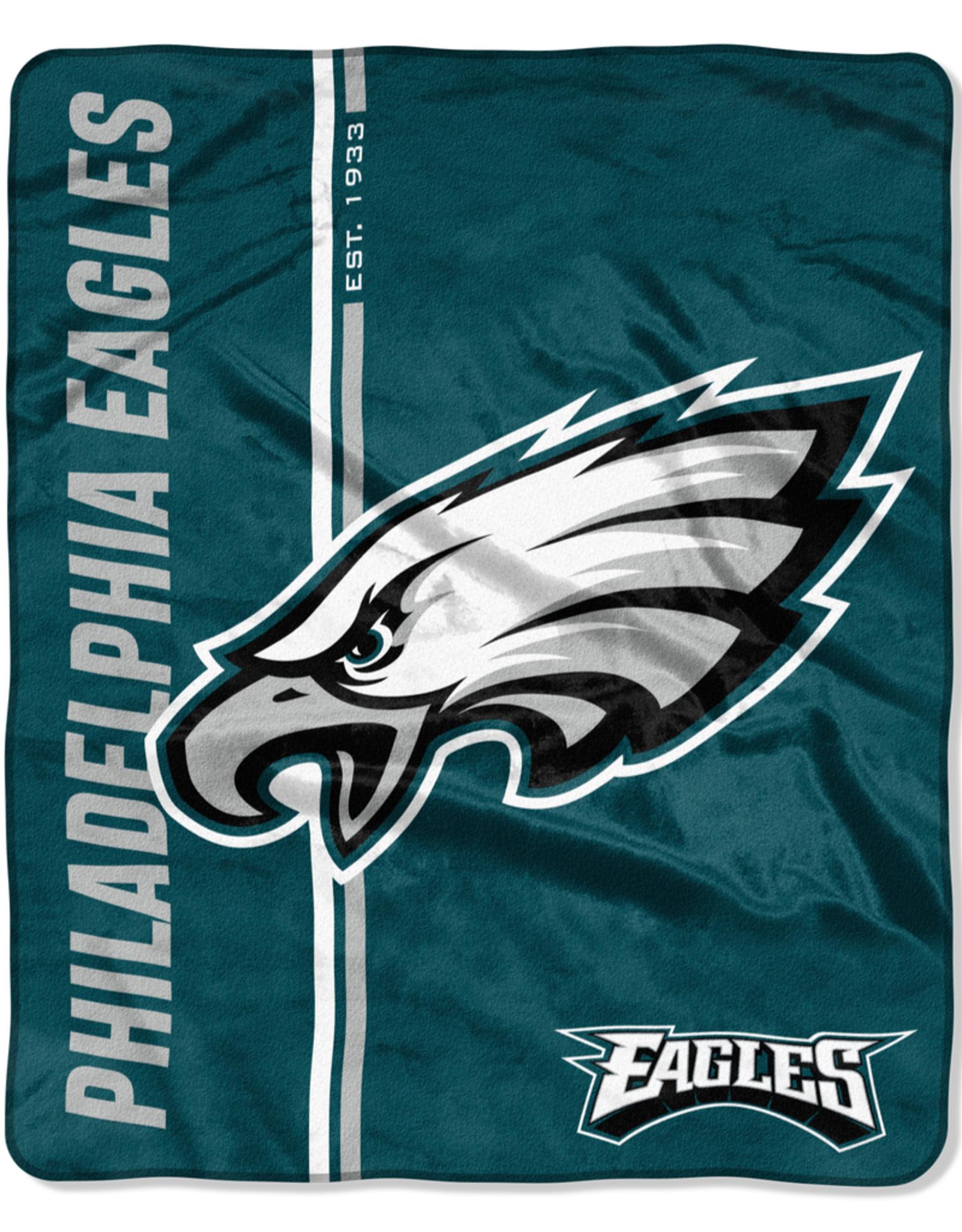 NORTHWEST Philadelphia Eagles Restructure Royal Plush Raschel Throw