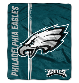 NORTHWEST Philadelphia Eagles Restructure Royal Plush Raschel Throw