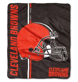 NORTHWEST Cleveland Browns Restructure Royal Plush Raschel Throw
