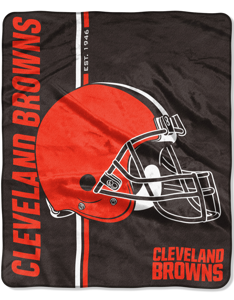 NORTHWEST Cleveland Browns Restructure Royal Plush Raschel Throw