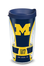 TERVIS Michigan Wolverines 16oz Tervis Touchdown Wrap Tumbler