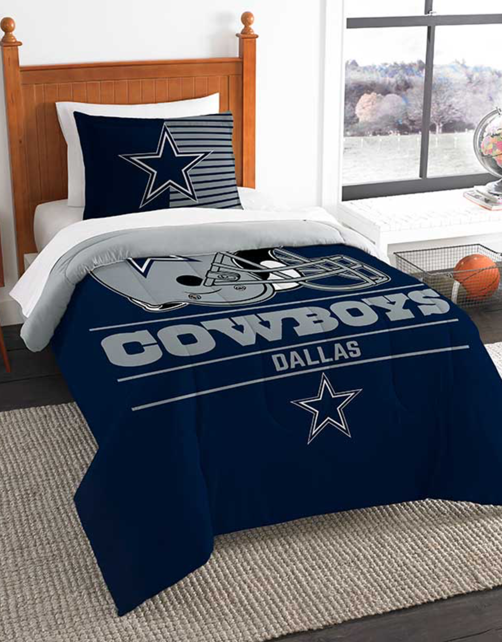 NORTHWEST Dallas Cowboys Draft Twin Comforter Set
