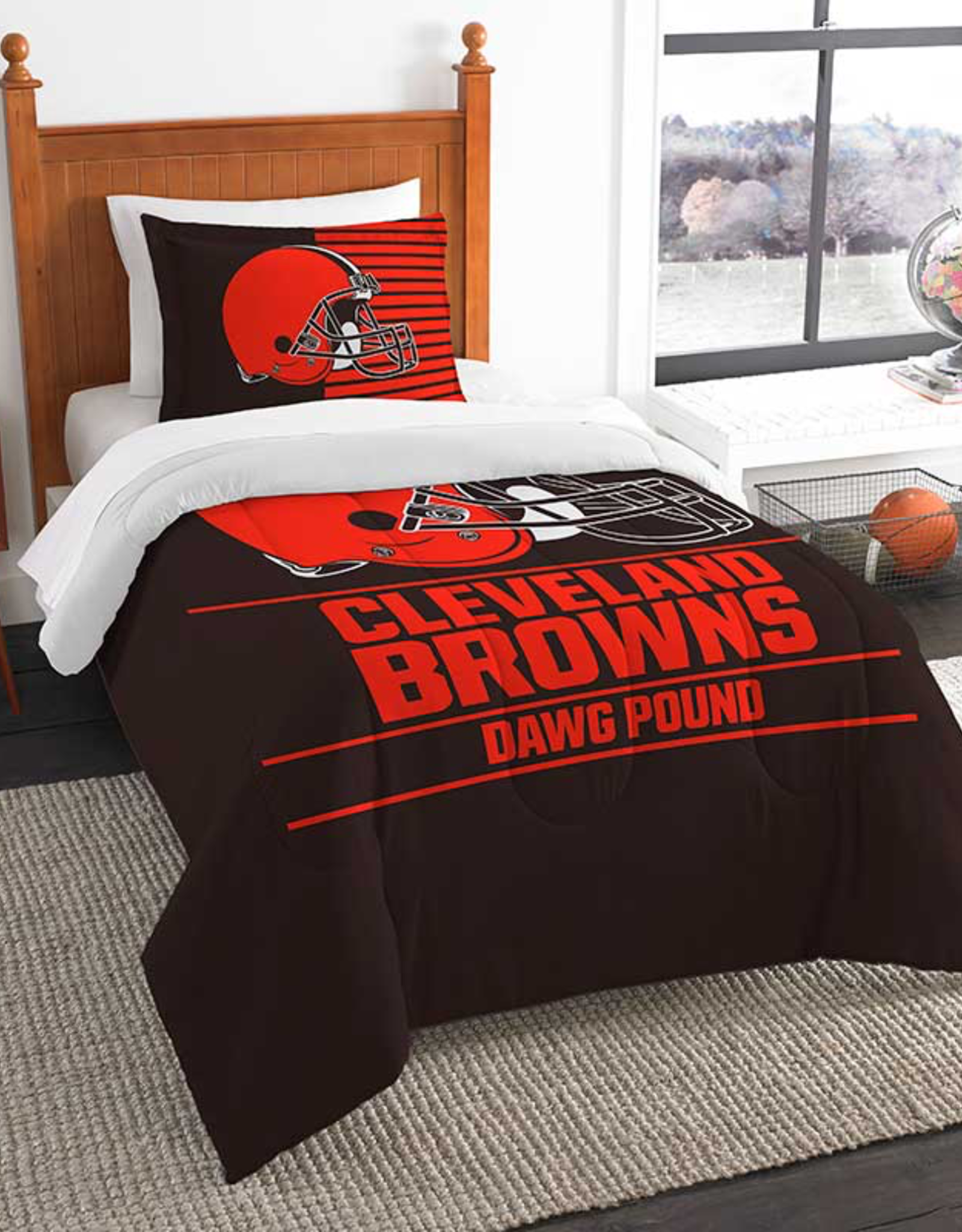 NORTHWEST Cleveland Browns Draft Twin Comforter Set