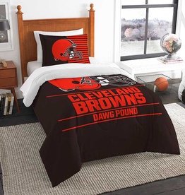 NORTHWEST Cleveland Browns Draft Twin Comforter Set