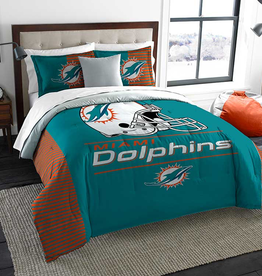 NORTHWEST Miami Dolphins Draft Full/Queen Comforter Set