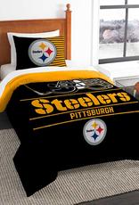 NORTHWEST Pittsburgh Steelers Draft Twin Comforter Set