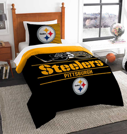 NORTHWEST Pittsburgh Steelers Draft Twin Comforter Set