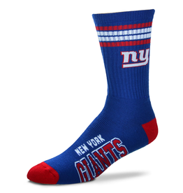 FOR BARE FEET New York Giants 4-Stripe Deuce Crew Socks