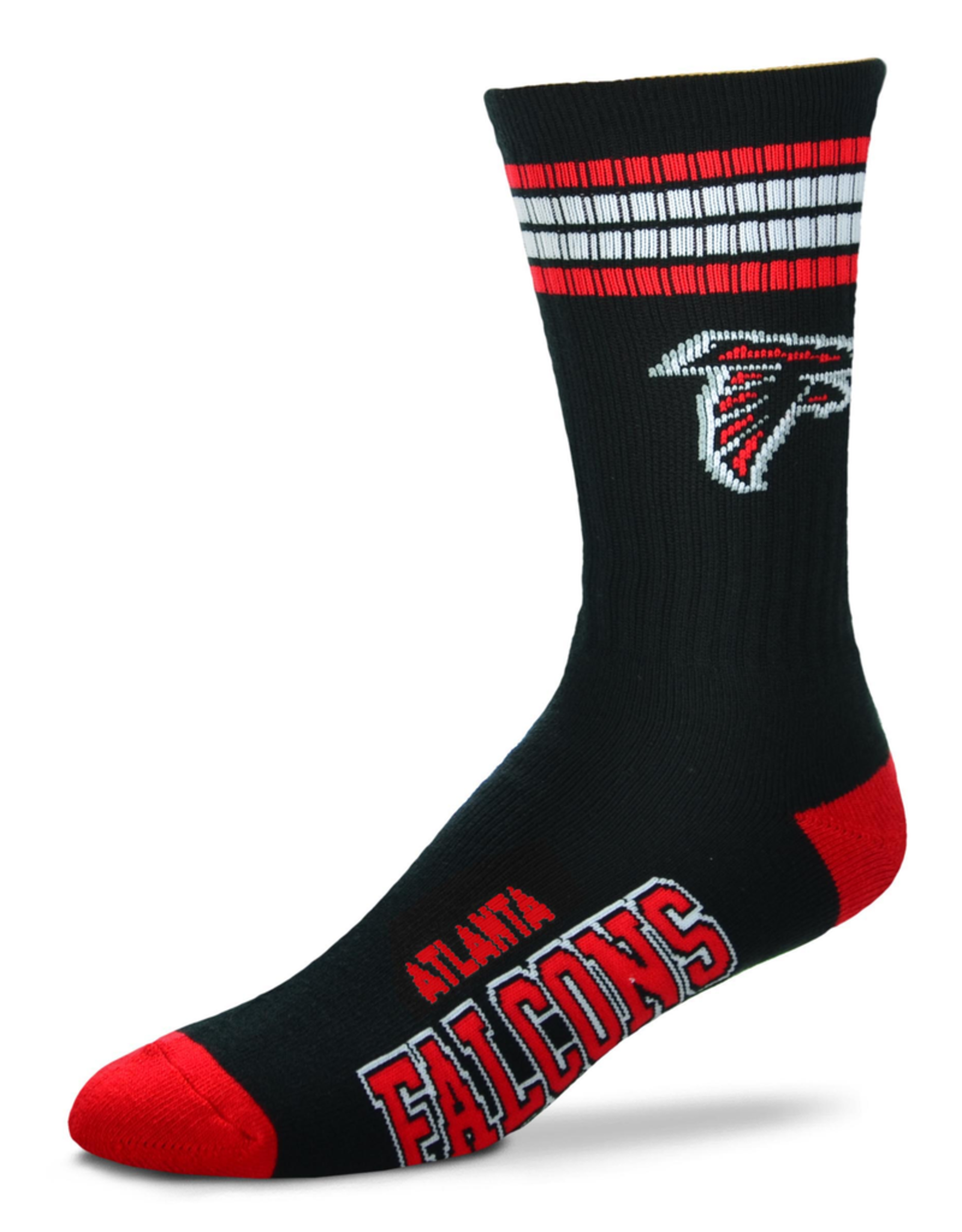 FOR BARE FEET Atlanta Falcons 4-Stripe Deuce Crew Socks