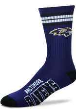 FOR BARE FEET Baltimore Ravens 4-Stripe Deuce Crew Socks