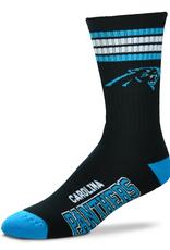 FOR BARE FEET Carolina Panthers  4-Stripe Deuce Crew Socks