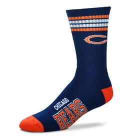 FOR BARE FEET Chicago Bears 4-Stripe Deuce Crew Socks