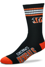 FOR BARE FEET Cincinnati Bengals 4-Stripe Deuce Crew Socks