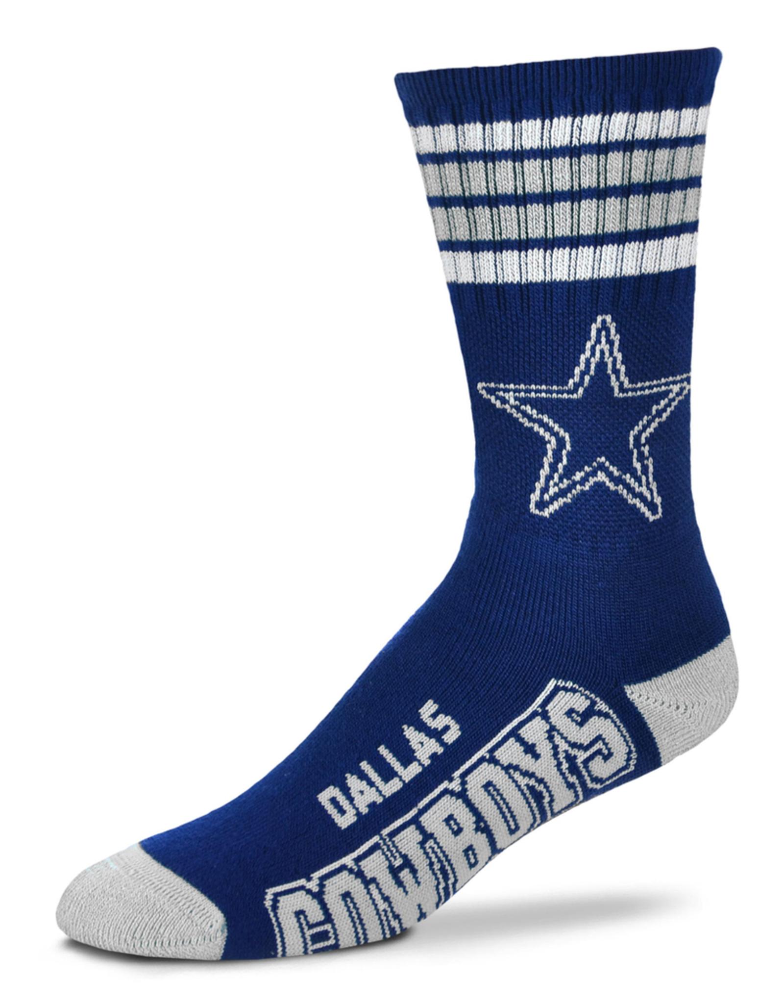 FOR BARE FEET Dallas Cowboys 4-Stripe Deuce Crew Socks