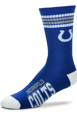 FOR BARE FEET Indianapolis Colts 4-Stripe Deuce Crew Socks