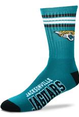 FOR BARE FEET Jacksonville Jaguars 4-Stripe Deuce Crew Socks