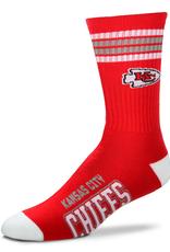 FOR BARE FEET Kansas City Chiefs 4-Stripe Deuce Crew Socks