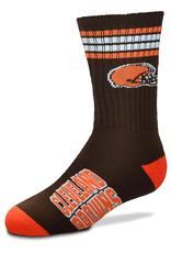 FOR BARE FEET Cleveland Browns Youth Stripe Deuce Socks