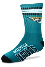 FOR BARE FEET Jacksonville Jaguars Youth Stripe Deuce Socks