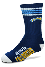 FOR BARE FEET Los Angeles Chargers Youth Stripe Deuce Socks