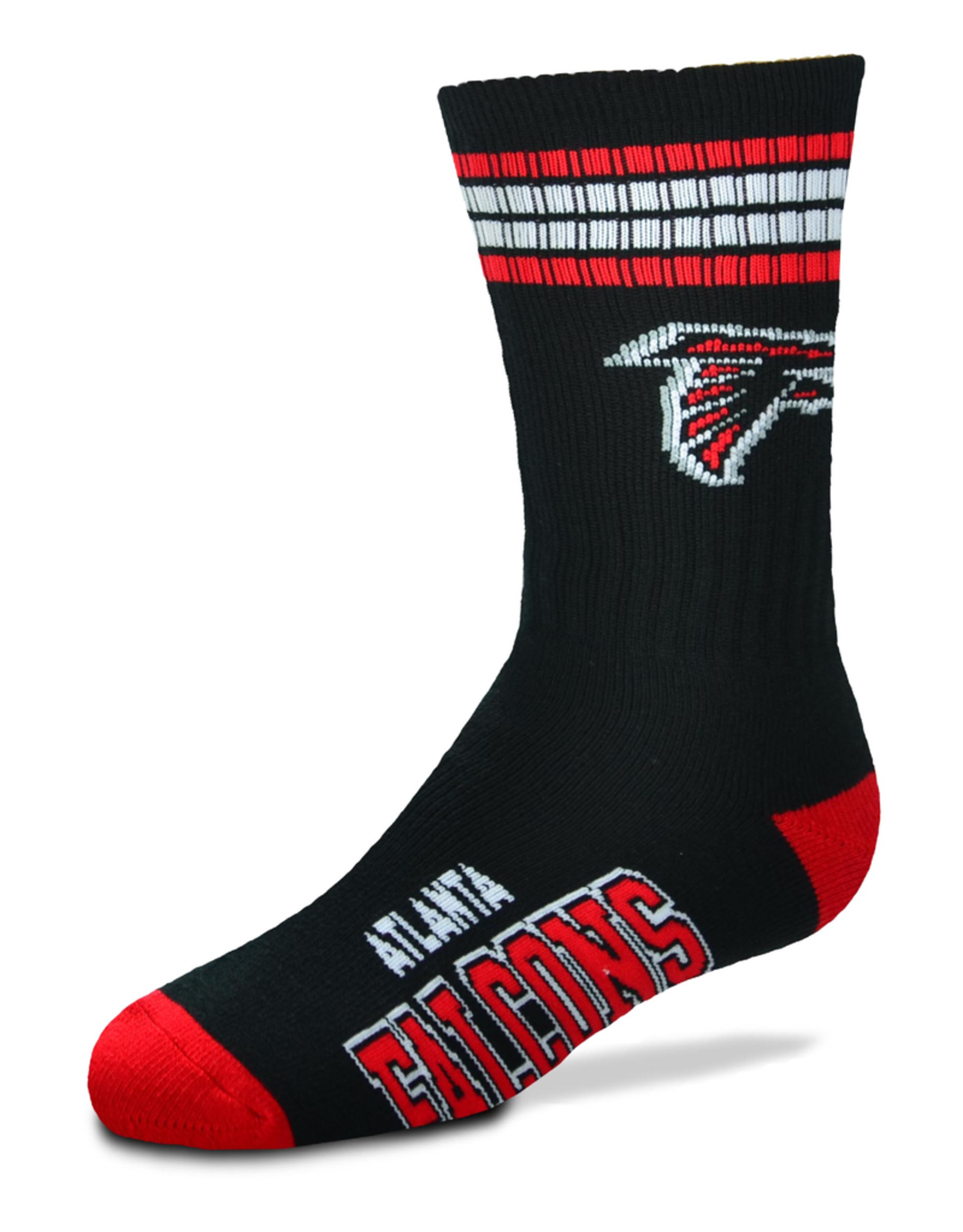 FOR BARE FEET Atlanta Falcons Youth Stripe Deuce Socks