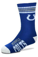FOR BARE FEET Indianapolis Colts Youth Stripe Deuce Socks