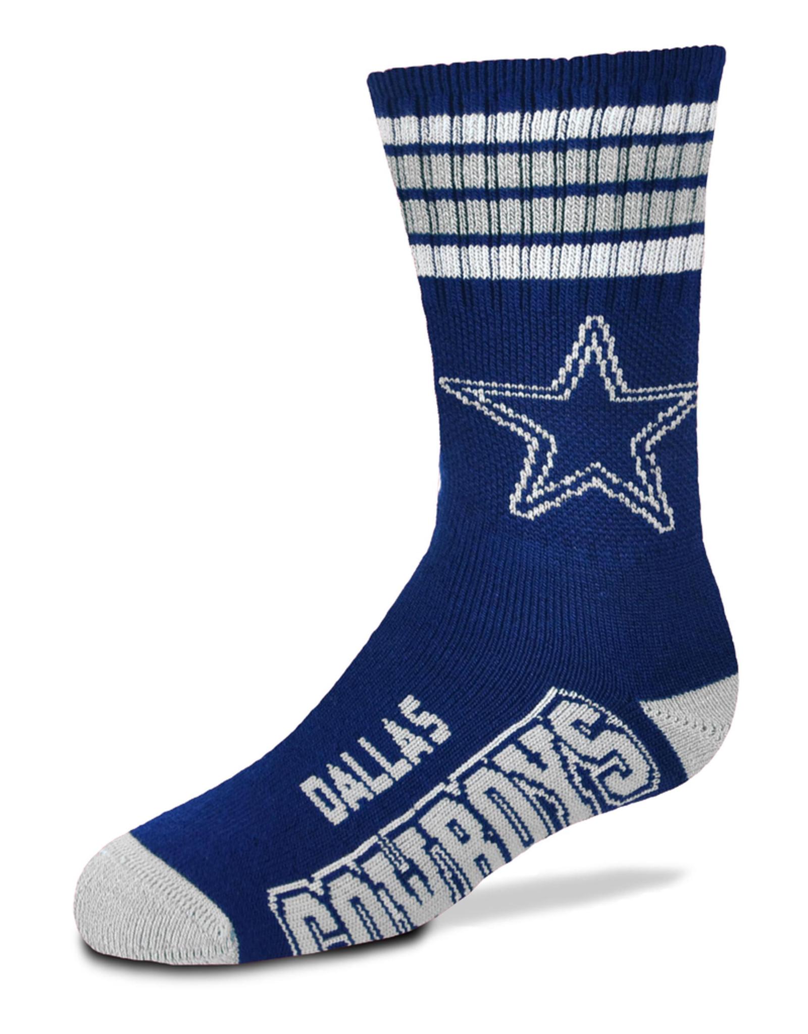 FOR BARE FEET Dallas Cowboys Youth Stripe Deuce Socks
