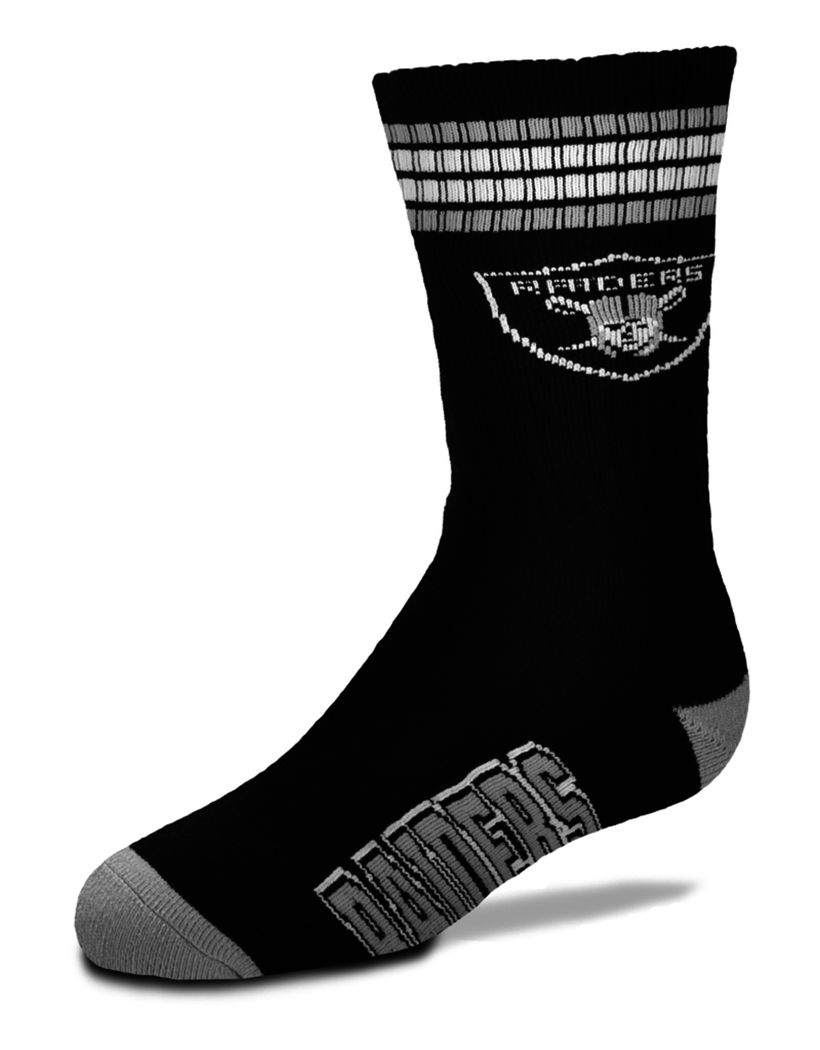 FOR BARE FEET Las Vegas Raiders Youth Stripe Deuce Socks
