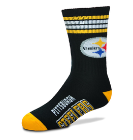 FOR BARE FEET Pittsburgh Steelers Youth Stripe Deuce Socks