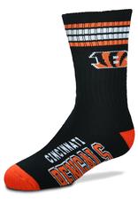 FOR BARE FEET Cincinnati Bengals Youth Stripe Deuce Socks