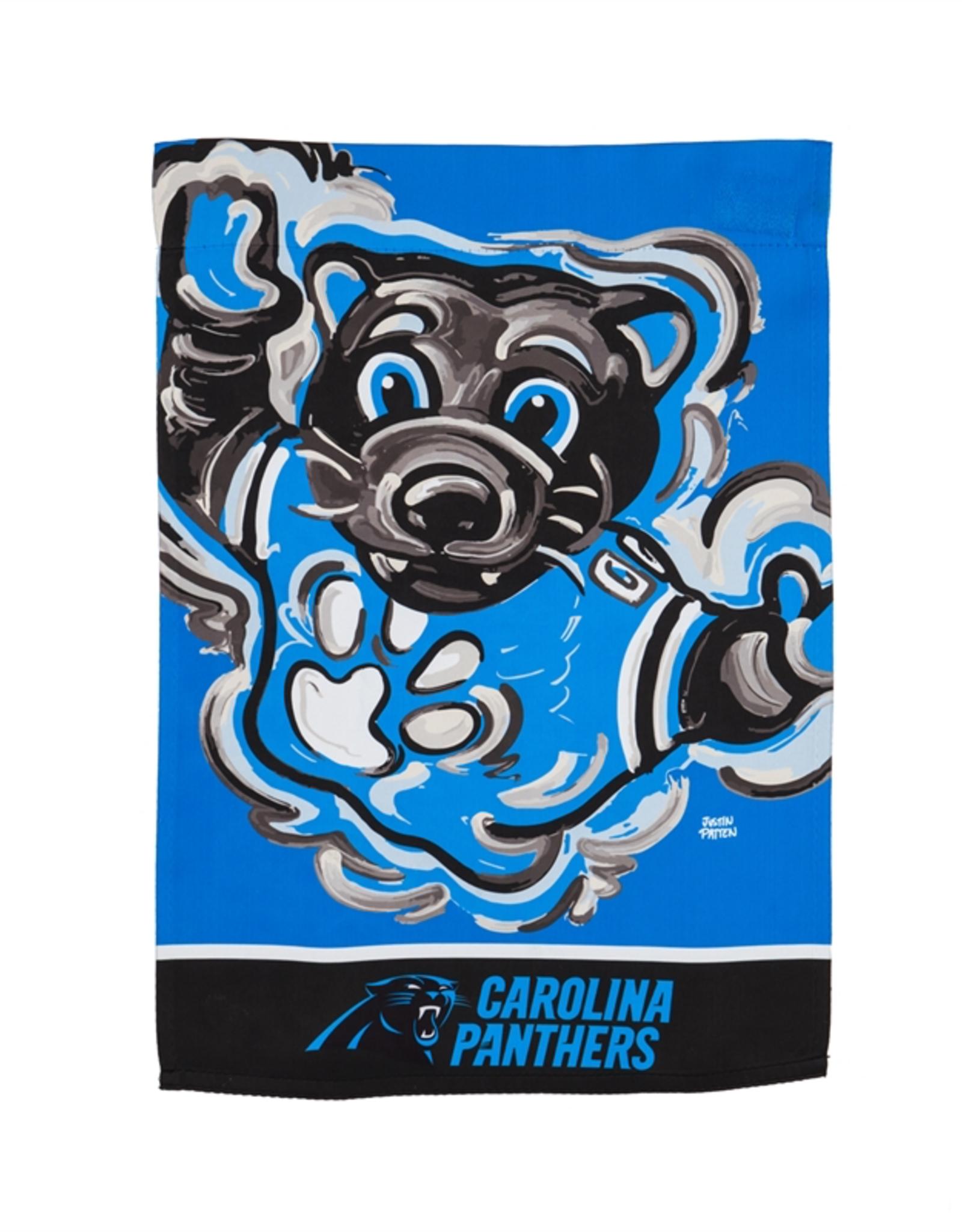EVERGREEN Carolina Panthers Justin Pattern Garden Flag