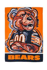 EVERGREEN Chicago Bears Justin Pattern Garden Flag