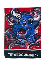 EVERGREEN Houston Texans Justin Pattern Garden Flag