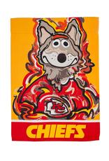 EVERGREEN Kansas City Chiefs Justin Pattern Garden Flag