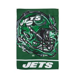 EVERGREEN New York Jets Justin Pattern Garden Flag