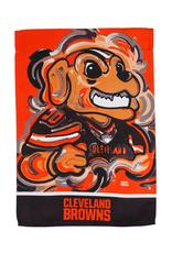 EVERGREEN Cleveland Browns Justin Pattern Garden Flag